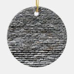 Old Roof Top With Chimney Christmas Tree Ornament