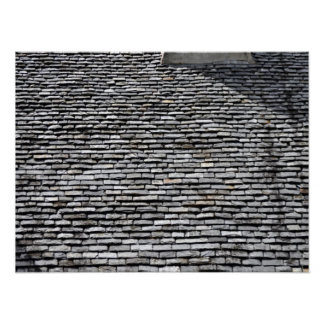 Old Roof Top With Chimney Poster