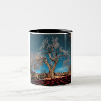 Old Roots of Canyon Road Two-Tone Coffee Mug
