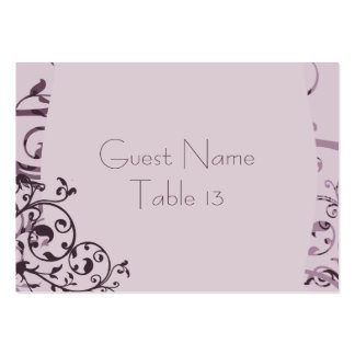 Old Rose Art Deco Table Card Large Business Card