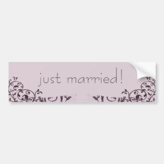 Old Rose Art Deco Wedding Bumper Sticker