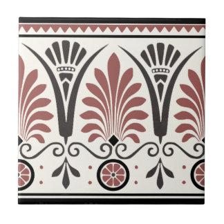 Old Rose Dresser Minton Palmette Border Tile Repro