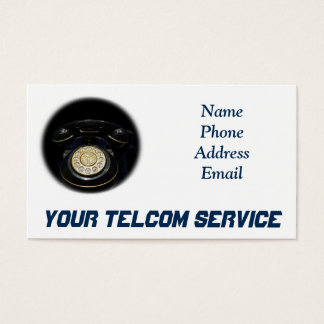 Old Rotary Dial Telephone Set for Phone Business Business Card