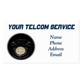 Old Rotary Dial Telephone Set for Phone Business Double-Sided Standard Business Cards (Pack Of 100)