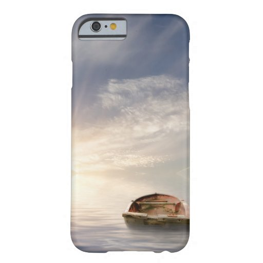 Old rowing boat adrift at sea barely there iPhone 6 case