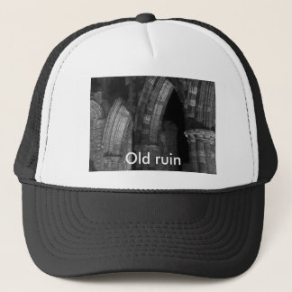 Old ruin. black and white Gothic arches Trucker Hat