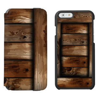 Old Ruin Wreck Wooden Box iPhone 6/6s Wallet Case