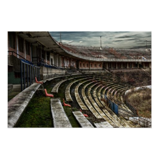 Old ruined stadium - poster