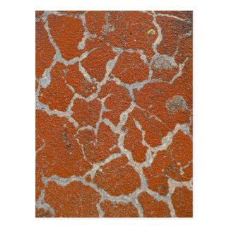Old russet color on concrete postcard
