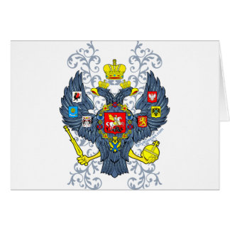Old Russian Coat of Arms Герб Greeting Card