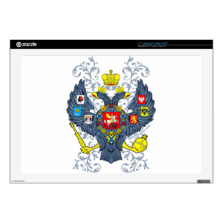 """Old Russian Coat of Arms Герб 17"""" Laptop Decals"""