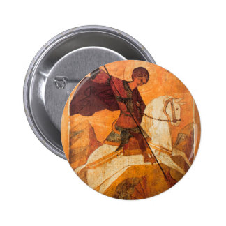 Old Russian icon of St.George 2 Inch Round Button