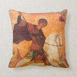 Old Russian icon of St.George Pillows