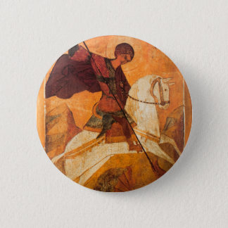 Old Russian icon of St.George Pinback Button