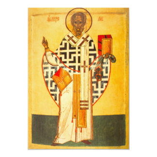 Old Russian icon of St.Nicholas Card