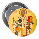 Old Russian icon of St.Nicholas Pinback Button