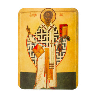 Old Russian icon of St.Nicholas Rectangular Photo Magnet