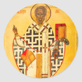 Old Russian icon of St.Nicholas Stickers