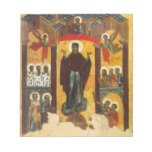 Old Russian icon The Intercession Memo Pads