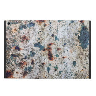 Old rusted barrel with white paint cover for iPad air