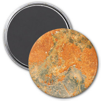 Old Rusted Corroded Iron Metal 3 Inch Round Magnet
