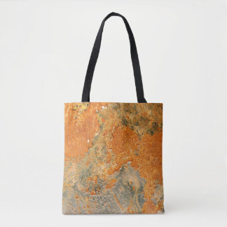Old Rusted Corroded Iron Metal Tote Bag