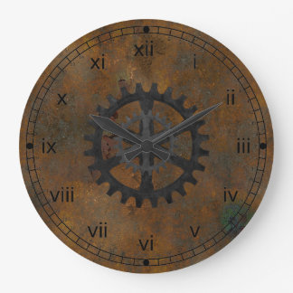 Old Rusted Look Wall Clock