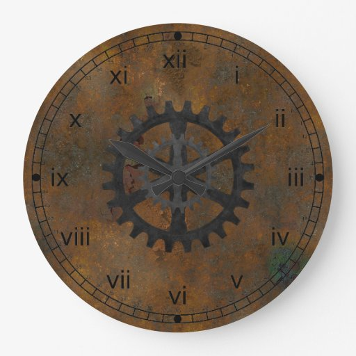 Old Rusted Look Wall Clock Zazzle