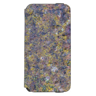 Old rusted metal surface with small yellow mold iPhone 6/6s wallet case