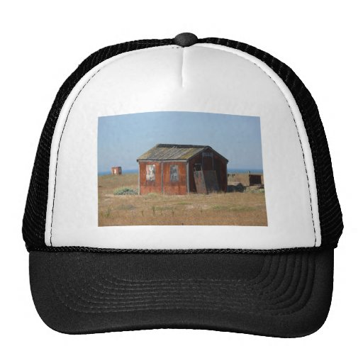 Old Rusted Shack Hut Cabinet Mesh Hats