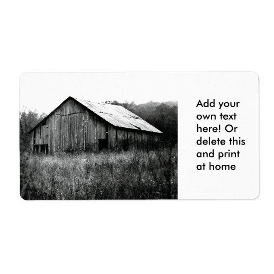 Old Rustic Barn Label