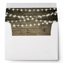 Old Rustic Barn Wood String Lights Envelope