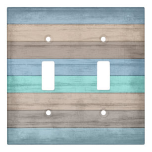 Beach Themed Double Light Switch Covers