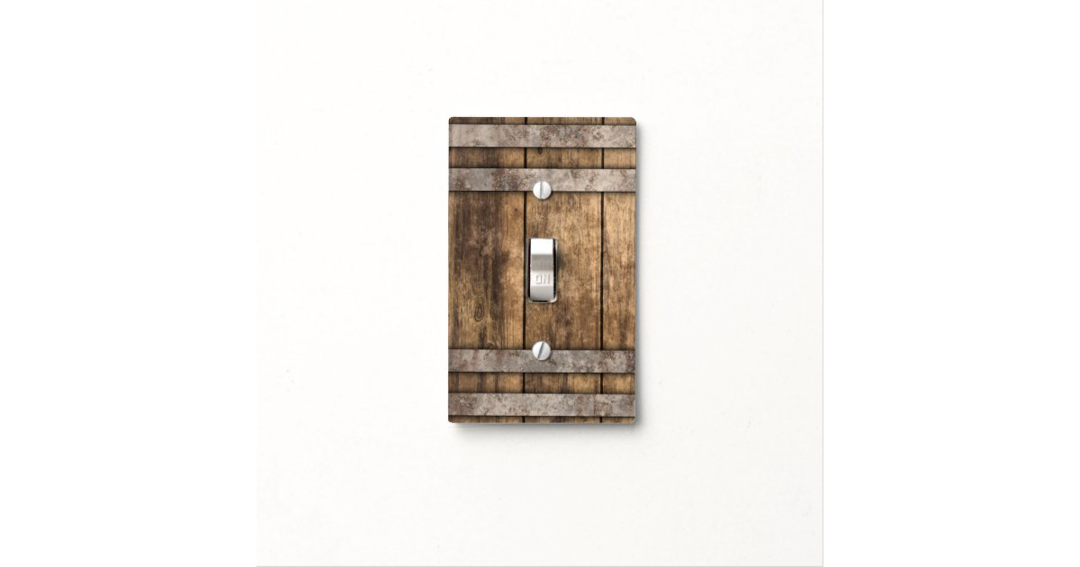 Old Rustic Brown Wood Light Switch Cover Zazzle