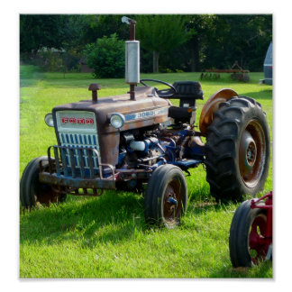 Old Rustic Farm Tractor Poster