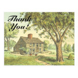 "[ Thumbnail: Old Rustic House, ""Thank You!"" Postcard ]"