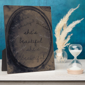 Old Rustic Mirror With Confidence Quotes Display Plaques
