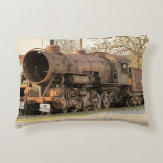 Old Rustic Norfolk and Western Steam Locomotive Decorative Pillow
