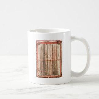 Old Rustic Railroad Train Car Door Classic White Coffee Mug
