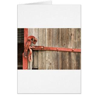 Old Rustic Railroad Train Door Card