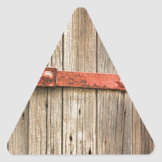 Old Rustic Railroad Train Door Triangle Sticker