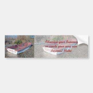 Old Rustic Row Boat Bumper Sticker