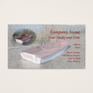 Old Rustic Row Boat Business Card