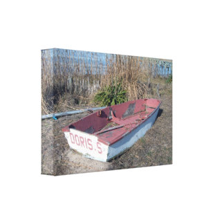 Old Rustic Row Boat Canvas Prints