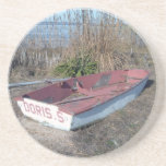 Old Rustic Row Boat Drink Coasters