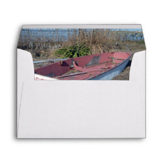 Old Rustic Row Boat Envelope