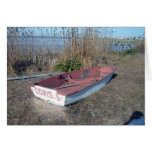 Old Rustic Row Boat Greeting Cards