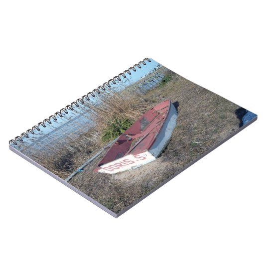 Old Rustic Row Boat Notebook