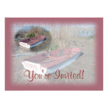 Old Rustic Row Boat Personalized Invites