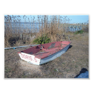 Old Rustic Row Boat Photograph